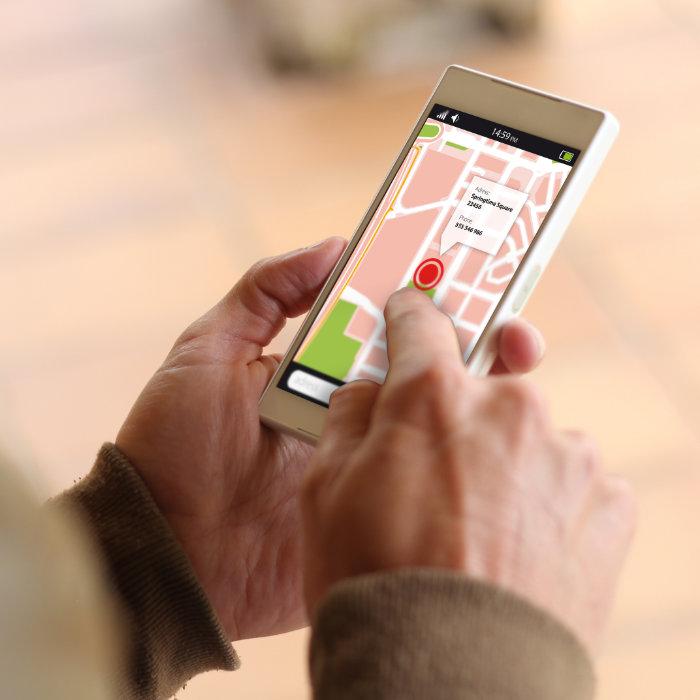 mapy google na smartfonie