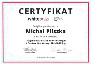 certyfikat od whitepress